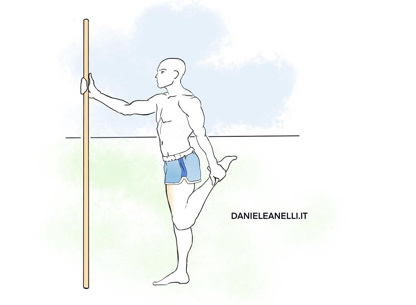 Stretching quadricipite