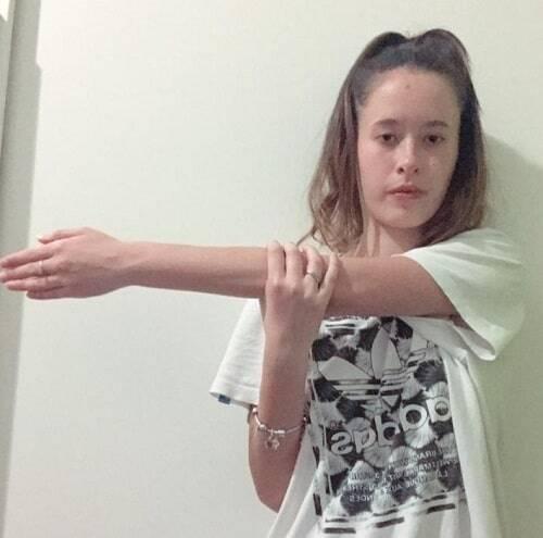 stretching tricipite variante