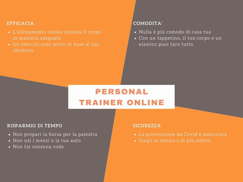 Personal trainer online benefici